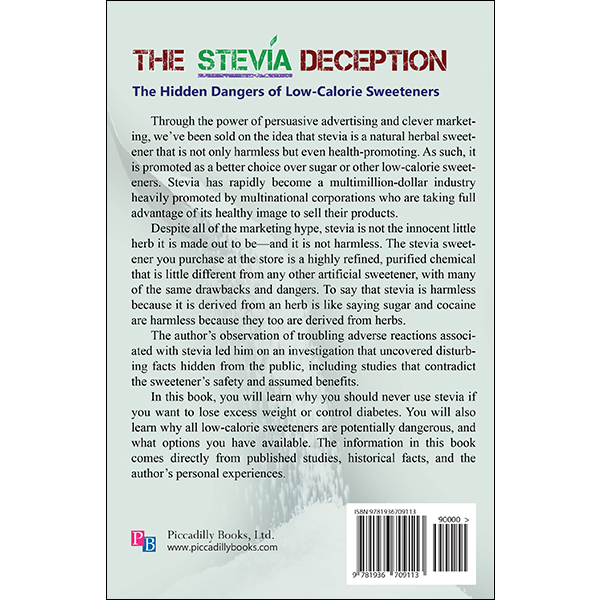 The Stevia Deception by Bruce Fife back cover